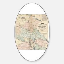Cool Civil war battlefield Sticker (Oval)