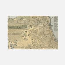 Cute San francisco map Rectangle Magnet