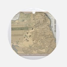 Cute San francisco map Round Ornament