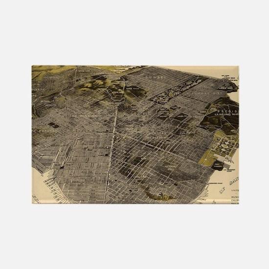 Unique San francisco map Rectangle Magnet