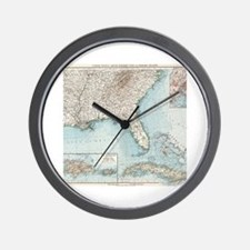 Funny Us map Wall Clock