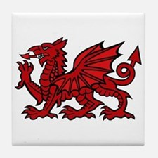 Red Welsh Dragon Tile Coaster