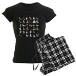 36 Pigeon Breeds Women's Dark Pajamas