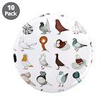 "36 Pigeon Breeds 3.5"" Button (10 Pack)"