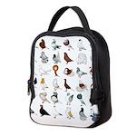 36 Pigeon Breeds Neoprene Lunch Bag