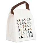 36 Pigeon Breeds Canvas Lunch Bag