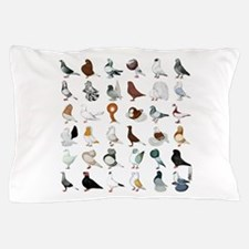 36 Pigeon Breeds Pillow Case