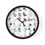 36 Pigeon Breeds Wall Clock