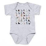 36 Pigeon Breeds Baby Bodysuit