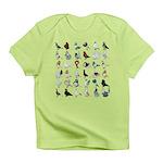 36 Pigeon Breeds Infant T-Shirt