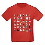 36 Pigeon Breeds Kids Dark T-Shirt