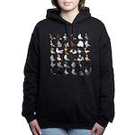 36 Pigeon Breeds Women's Hooded Sweatshirt