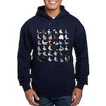 36 Pigeon Breeds Hoodie (dark)