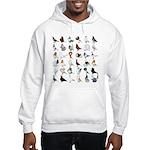 36 Pigeon Breeds Hooded Sweatshirt