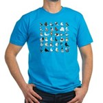 36 Pigeon Breeds Men's Fitted T-Shirt (dark)