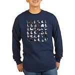 36 Pigeon Breeds Dark Long Sleeve T-Shirt