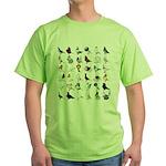36 Pigeon Breeds Green T-Shirt