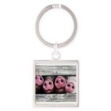Cute Baby animals Square Keychain