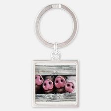 Cute Farm animals Square Keychain