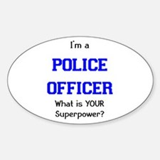 police officer Sticker (Oval)