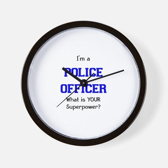 police officer Wall Clock