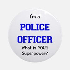 police officer Ornament (Round)