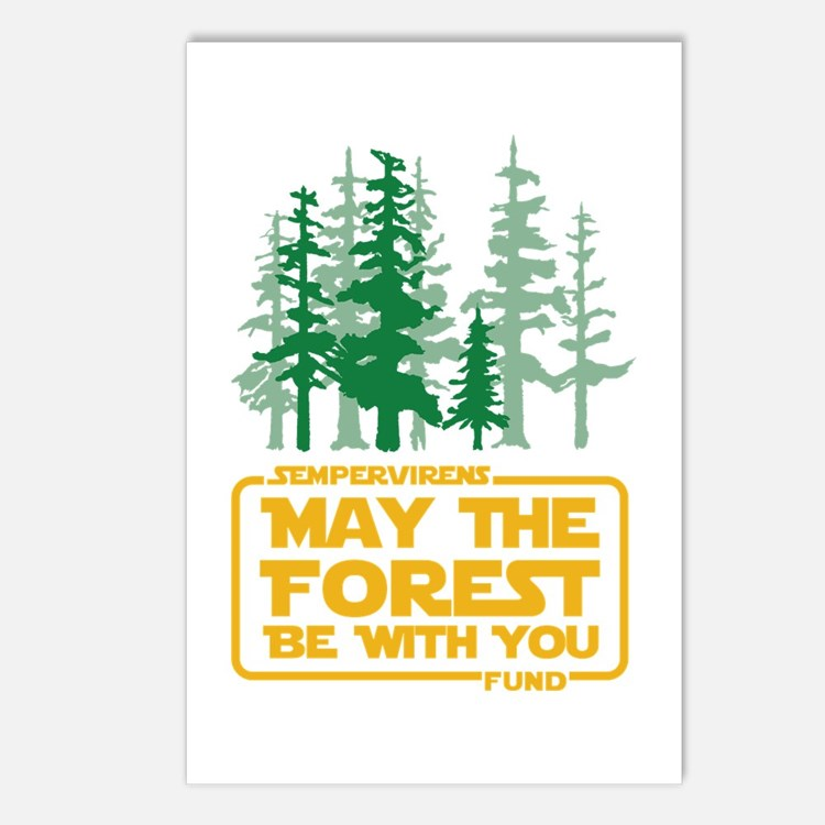 May The Forest Be With Postcards (package Of 8)