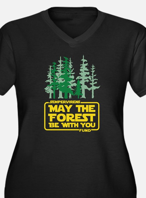 May the Forest Be With You Plus Size T-Shirt