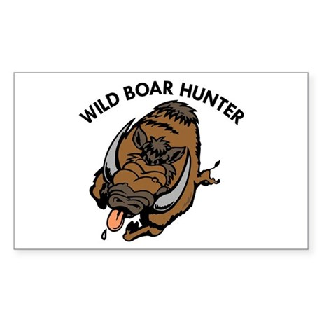 Wild Boar Hunter Rectangle Sticker
