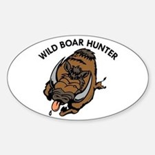 Wild Boar Hunter Oval Decal