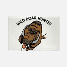 Wild Boar Hunter Rectangle Magnet