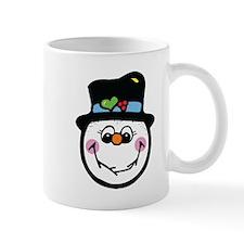 Cute Silly Snowman Face Mug