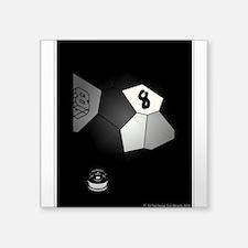 """8 Ball Illusion 3D Square Sticker 3"""" x 3"""""""