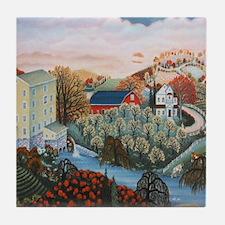 Unique Landscape painter Tile Coaster