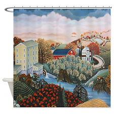 Cute Farmland Shower Curtain