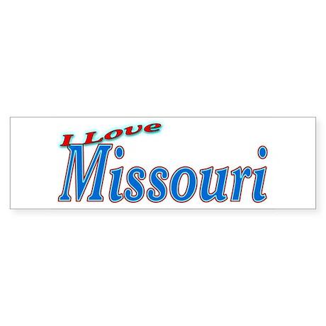 I Love Missouri Bumper Sticker