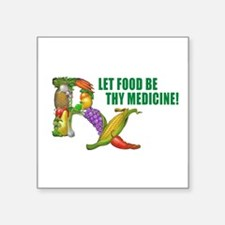 "Cute Health food Square Sticker 3"" x 3"""