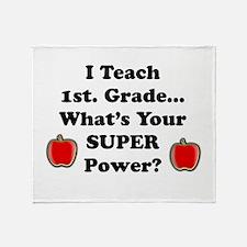 1st. Grade Teacher Throw Blanket