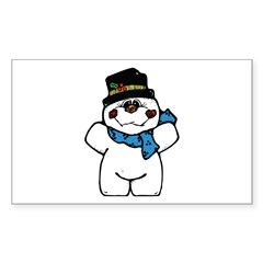 Silly Little Snowman Rectangle Decal