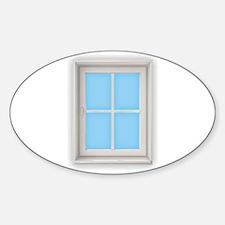 Window Blue Decal