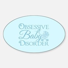 Cute Baby Obsessed Sticker (Oval)
