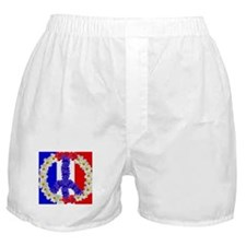peace sign paris Boxer Shorts
