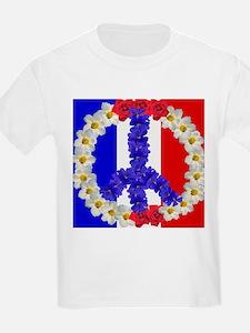 peace sign paris T-Shirt