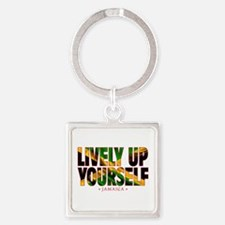 Lively Up Yourself - Square Keychain