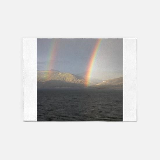 Double Rainbow 5'x7'Area Rug