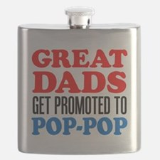 Promoted To Pop-Pop Drinkware Flask