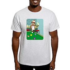 Sock Monkey Pool Player T-Shirt