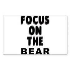 Focus on the BEAR Rectangle Decal