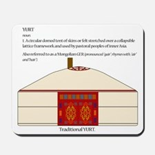 Yurt Definition Mousepad