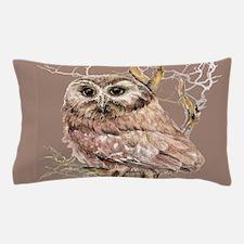 Cute Little Owl in Tree Bird Nature Watercolor Pil